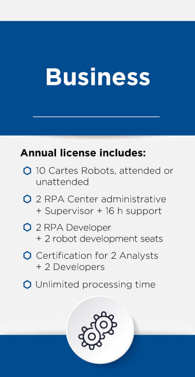 RPA Suite licensing • business pack
